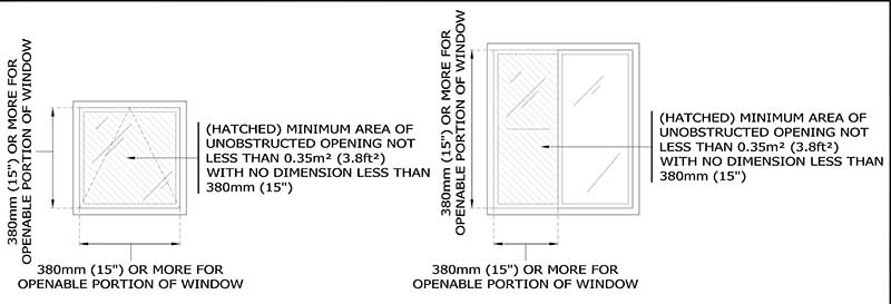 Egress window size hamilton