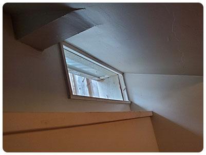 Basement window before enlargement